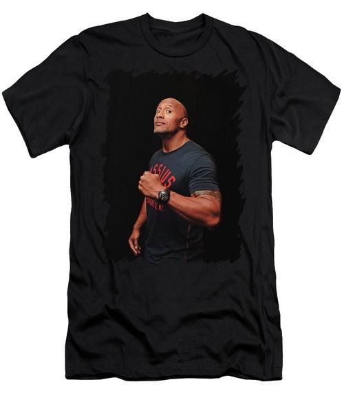 Dwayne Johnson Men's T-Shirt (Athletic Fit)