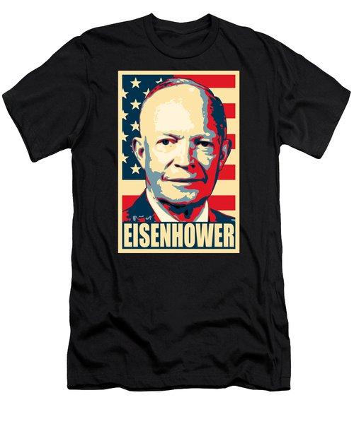 Dwight D. Eisenhower Amercian Propaganda Poster Art Men's T-Shirt (Athletic Fit)