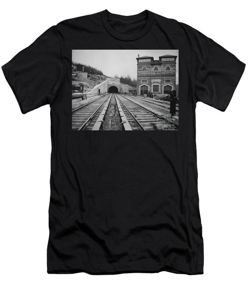 Dyckman Street Station Men's T-Shirt (Athletic Fit)