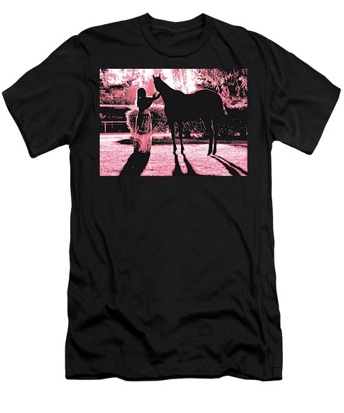 Dylly And Lizzy Pink Men's T-Shirt (Athletic Fit)