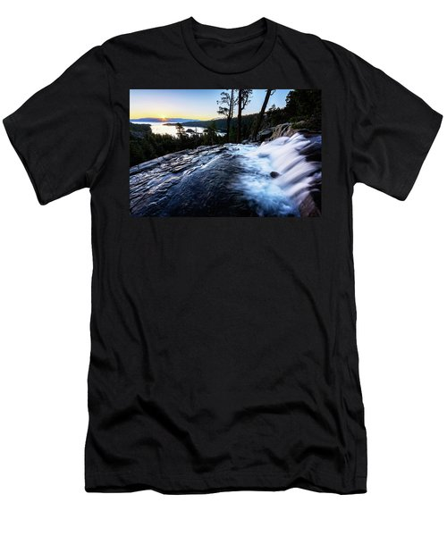 Men's T-Shirt (Athletic Fit) featuring the photograph Eagle Falls At Emerald Bay by John Hight
