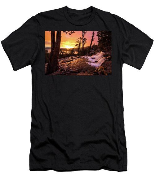 Men's T-Shirt (Athletic Fit) featuring the photograph Eagle Falls Sunrise by Wesley Aston