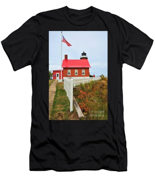 Eagle Harbor Lighthouse Men's T-Shirt (Athletic Fit)
