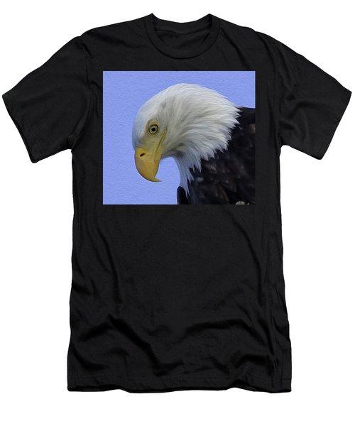 Eagle Head Paint Men's T-Shirt (Slim Fit) by Sheldon Bilsker