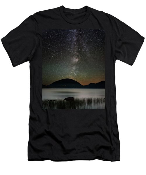 Eagle Lake And The Milky Way Men's T-Shirt (Athletic Fit)