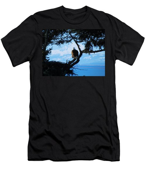 Eagle - Mt Baker - Eagles Nest Men's T-Shirt (Athletic Fit)