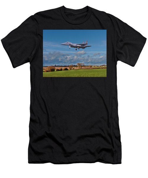 Men's T-Shirt (Athletic Fit) featuring the photograph Eagle On Finals by Paul Gulliver