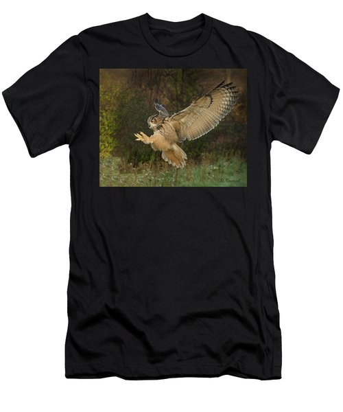 Eagle-owl Wings Back Men's T-Shirt (Athletic Fit)