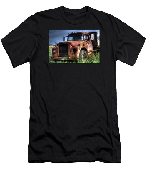 Men's T-Shirt (Slim Fit) featuring the photograph Earl Latsha Lumber Company Version 3 by Shelley Neff