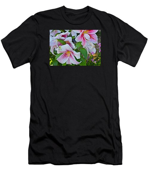 Early August Tumble Of Lilies Men's T-Shirt (Slim Fit) by Janis Nussbaum Senungetuk