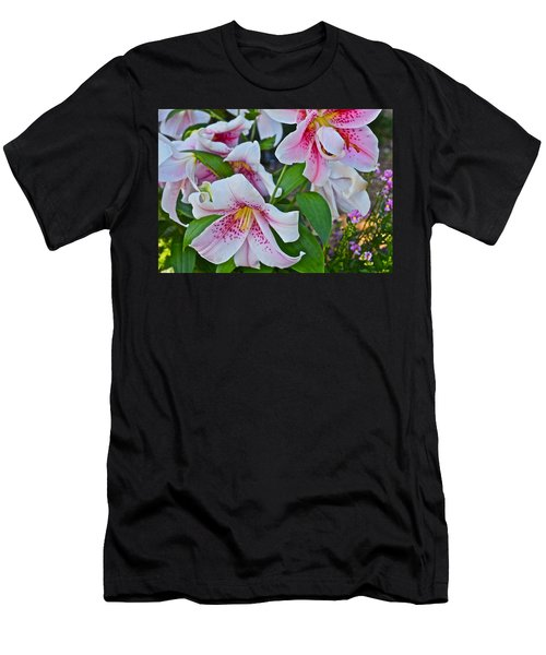 Early August Tumble Of Lilies Men's T-Shirt (Athletic Fit)