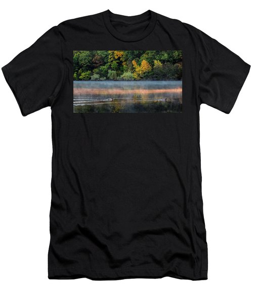 Early Autumn Morning At Longfellow Pond Men's T-Shirt (Athletic Fit)