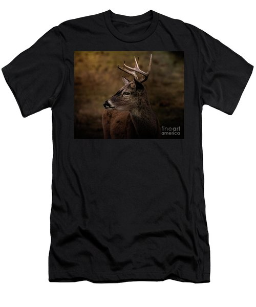 Early Buck Men's T-Shirt (Slim Fit) by Robert Frederick
