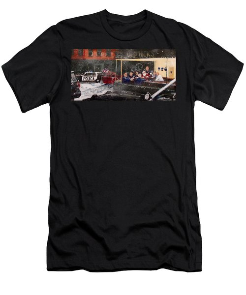 Early Christmas Morning Coffee Men's T-Shirt (Slim Fit) by Jack Skinner