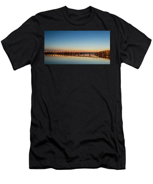 Early Evening Bridge At Sunset Men's T-Shirt (Athletic Fit)