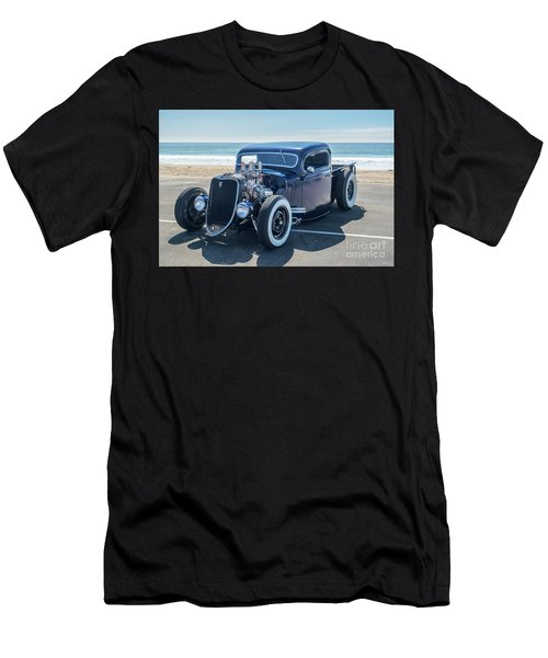 Early Ford Pickup At The Beach Men's T-Shirt (Athletic Fit)