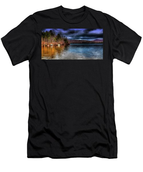 Men's T-Shirt (Slim Fit) featuring the photograph Early May On Limekiln Lake by David Patterson