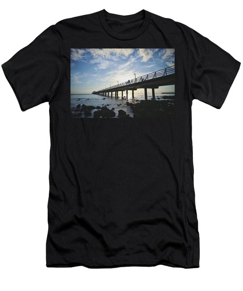 Early Morning At The Pier Men's T-Shirt (Athletic Fit)