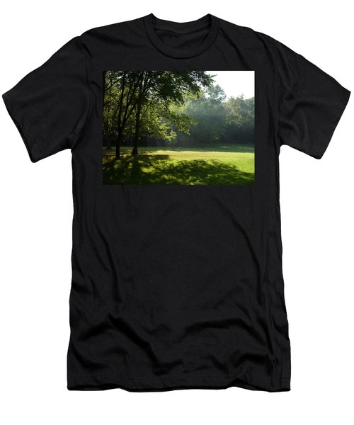 Men's T-Shirt (Slim Fit) featuring the photograph Early Morning Meadow by Cynthia Lassiter