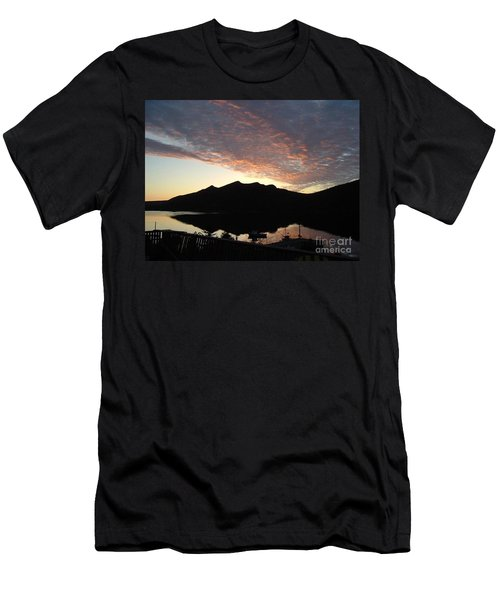 Men's T-Shirt (Slim Fit) featuring the photograph Early Morning Red Sky by Barbara Griffin