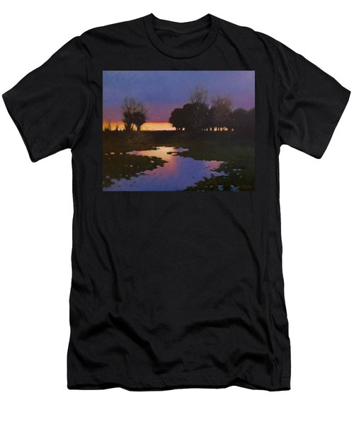 Early Morning Rice Fields Men's T-Shirt (Athletic Fit)