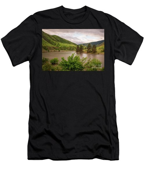 Early Morning Smoothy Waterscape Art By Kaylyn Franks  Men's T-Shirt (Athletic Fit)