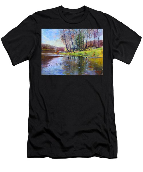 Early Spring In Bear Mountain Men's T-Shirt (Athletic Fit)