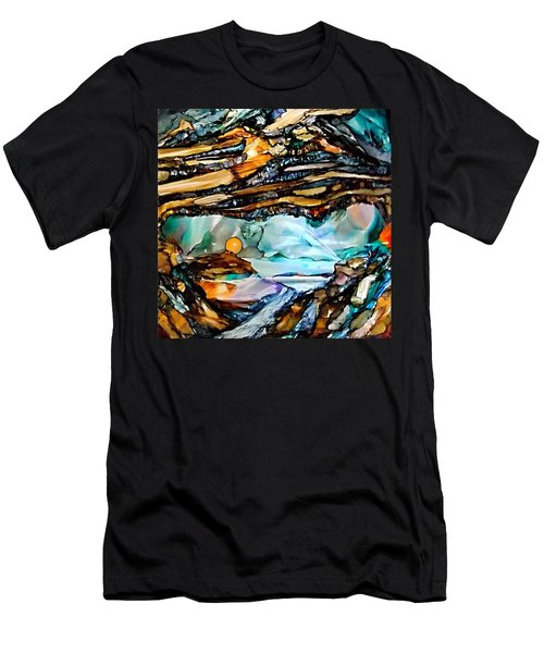 Earth Day Underground Paradise Alcohol Inks Men's T-Shirt (Athletic Fit)