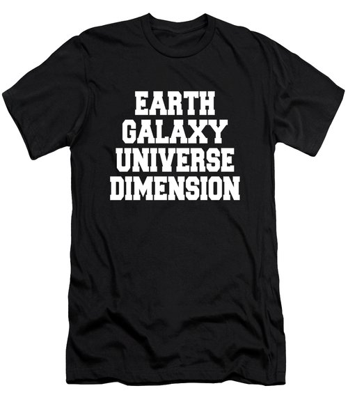 Earth Galaxy Universe Dimension Men's T-Shirt (Athletic Fit)
