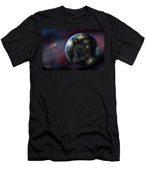 Earth One Day Men's T-Shirt (Slim Fit) by David Collins