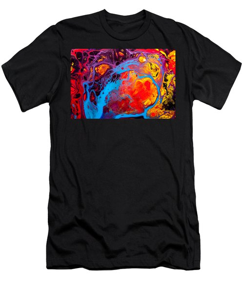 Earth Water Wind Fire - Abstract Painting Men's T-Shirt (Athletic Fit)