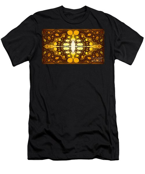 Earthly Awareness Abstract Organic Artwork By Omaste Witkowski Men's T-Shirt (Athletic Fit)