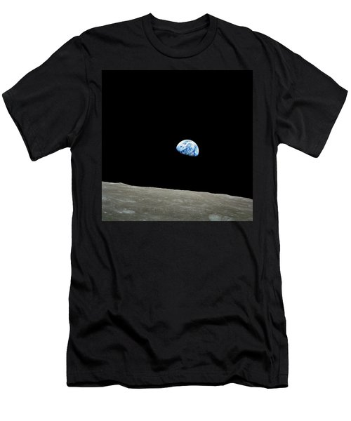 Earthrise - The Original Apollo 8 Color Photograph Men's T-Shirt (Slim Fit) by Nasa