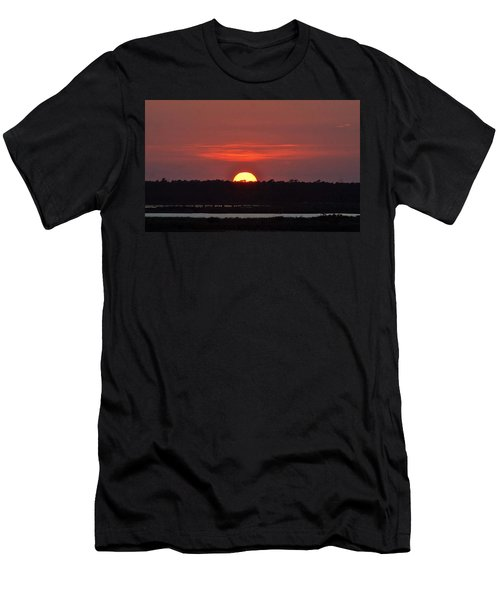 Men's T-Shirt (Slim Fit) featuring the photograph Ease Into Night... by John Glass