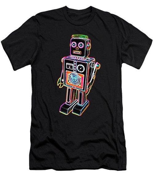 Easel Back Robot Men's T-Shirt (Athletic Fit)