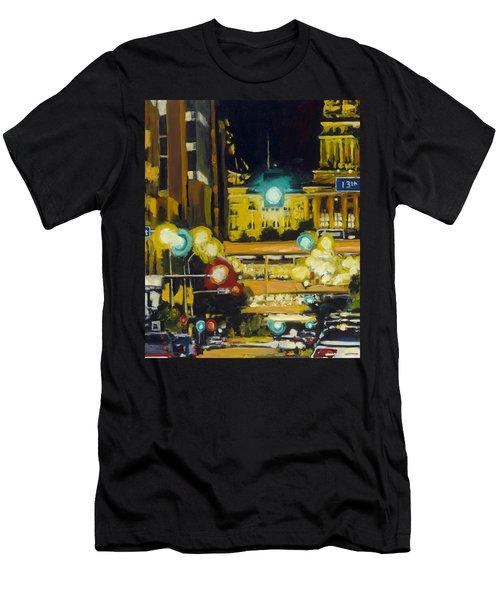 East 13th And Locust St Des Moines Men's T-Shirt (Athletic Fit)