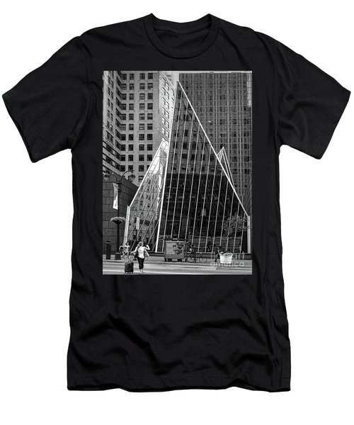 East 42nd Street, New York City  -17663-bw Men's T-Shirt (Athletic Fit)