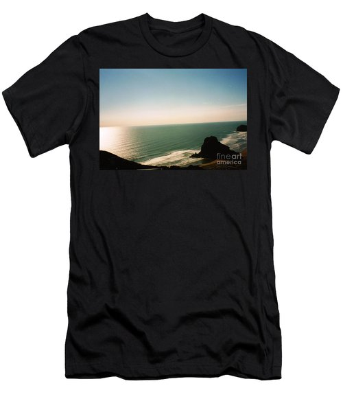 East Coastline In New Zealand Men's T-Shirt (Athletic Fit)