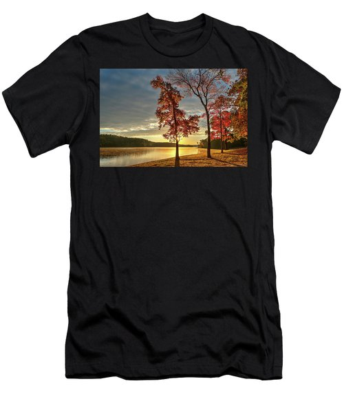 East Texas Autumn Sunrise At The Lake Men's T-Shirt (Athletic Fit)