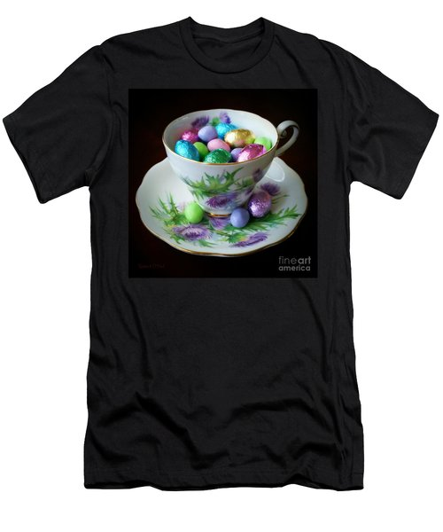 Easter Teacup Men's T-Shirt (Slim Fit) by Robert ONeil