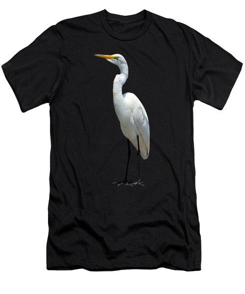 Eastern Great Egret Ardea Alba Modesta Men's T-Shirt (Athletic Fit)