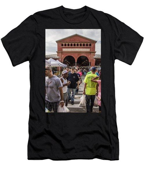 Eastern Market Summer Detroit  Men's T-Shirt (Athletic Fit)