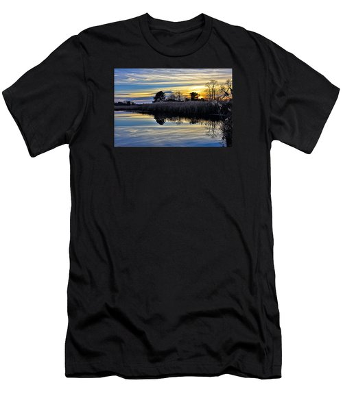 Men's T-Shirt (Slim Fit) featuring the photograph Eastern Shore Sunset - Blackwater National Wildlife Refuge - Maryland by Brendan Reals