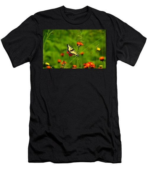 Eastern Tiger Swallowtail  Men's T-Shirt (Athletic Fit)