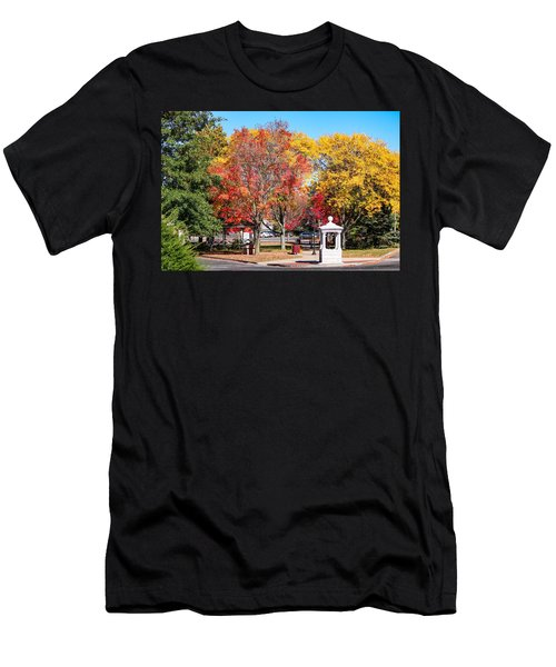 Easthampton Center In The Fall Men's T-Shirt (Athletic Fit)