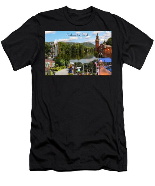 Easthampton Ma Collage Men's T-Shirt (Athletic Fit)