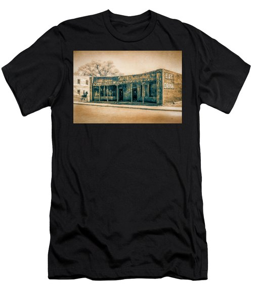 Men's T-Shirt (Athletic Fit) featuring the photograph Eat And Drink by Lou Novick