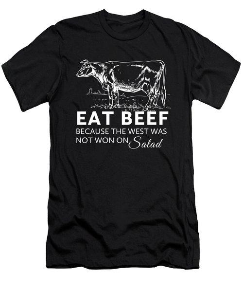 Eat Beef Men's T-Shirt (Athletic Fit)