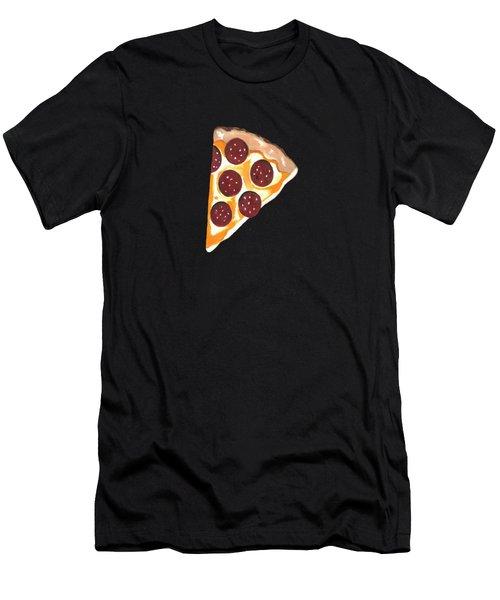 Eat Pizza Men's T-Shirt (Athletic Fit)