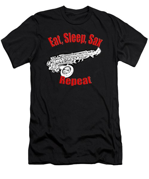 Eat Sleep Sax Repeat Men's T-Shirt (Athletic Fit)